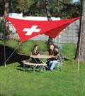 Sonnensegel SwissStyle 400 cm quadratisch