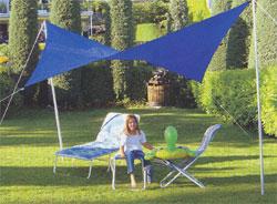 Sonnensegel 300 cm quadratisch - blau #2