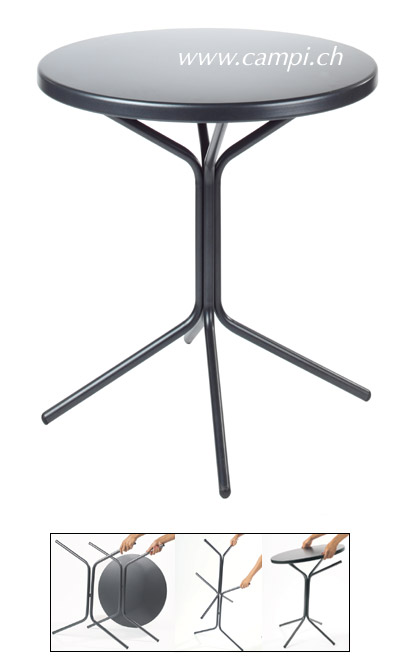 Metalltisch Ø 60x70 cm anthrazit #2