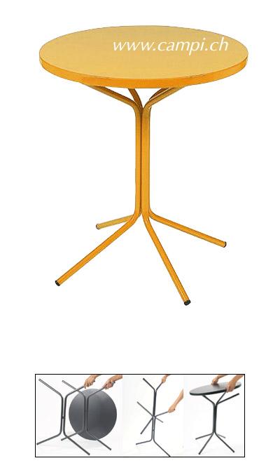 Metalltisch Ø 60x70 cm gelb #2