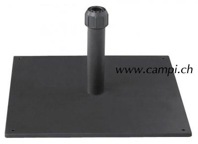 Metallschirmständer 60x60cm 40kg für Rohr-Ø 26-55 mm #2