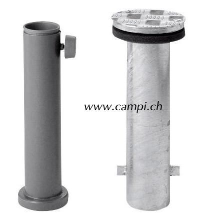 Bodenhülse mit Deckel (M4) und Standrohr für Alu Top Schirme #2