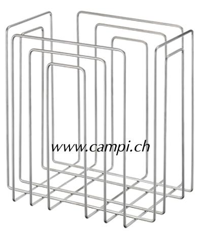 Zeitungs- und Papierstapler Chrom 37x27x37 cm #2