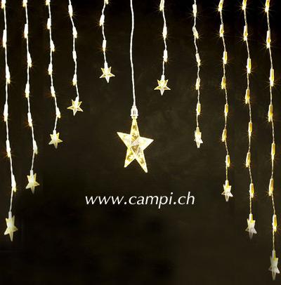 Leuchtsternen-Vorhang mit 11 Sternen 80 Birnchen 120x80 cm #2