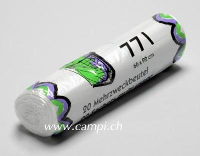 Abfallsack / Mehrzweckbeutel transparent 77 L Rolle à 20 Stk #2