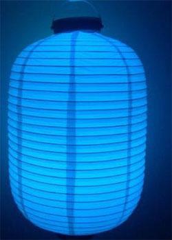 LED Lampion oval 32x20 cm multicolor #2
