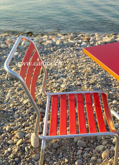Lättlistuhl Säntis ohne Armlehne rot #3