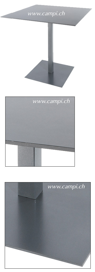 Fiberglastisch 90x90 cm klappbar anthrazit #3