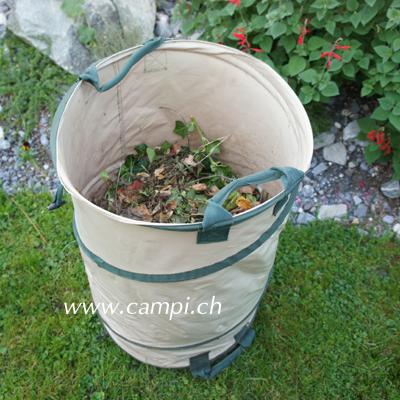 Gartensack mit Springrahmen 120 Liter Profi PU-Gewebe (250gr) #3
