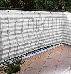 Balkonblende Ecoline 5x0.9m weiss-grau #2