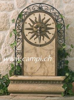 Wand- Standgartenbrunnen Sonne 37 x 56 H92 cm