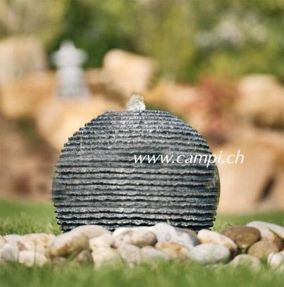 Garten- Kugelbrunnen Granit Ø35 cm