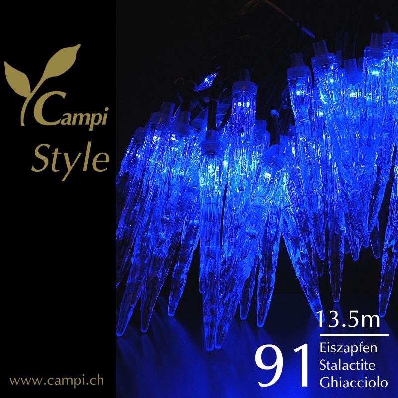 Eiszapfen-Lichterkette mit 90 LED-Zapfen 13.5 m outdoor