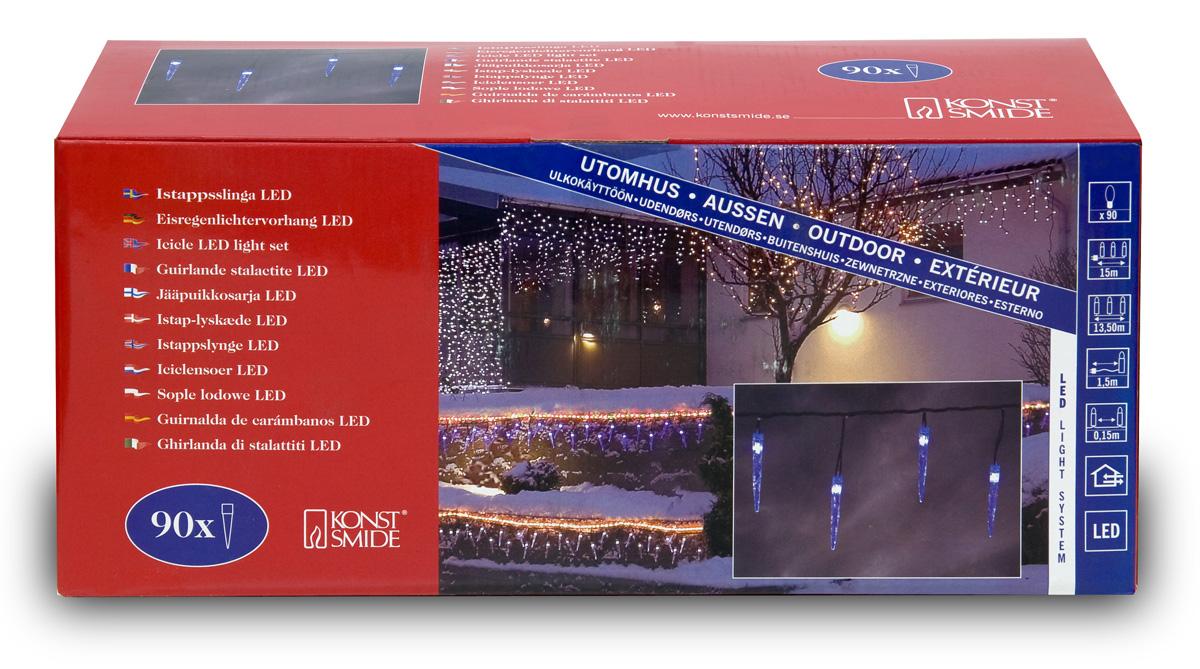 Eiszapfen-Lichterkette mit 90 LED-Zapfen 13.5 m outdoor #3