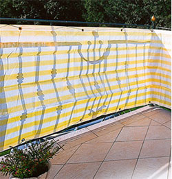 Balkonblende Ecoline 5x0.9m weiss-gelb #2