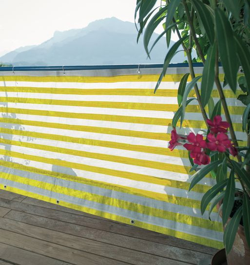 Balkonblende Ecoline 5x0.9m weiss-gelb #4
