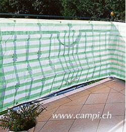 Balkonblende Ecoline 5x0.9m weiss-grün #2
