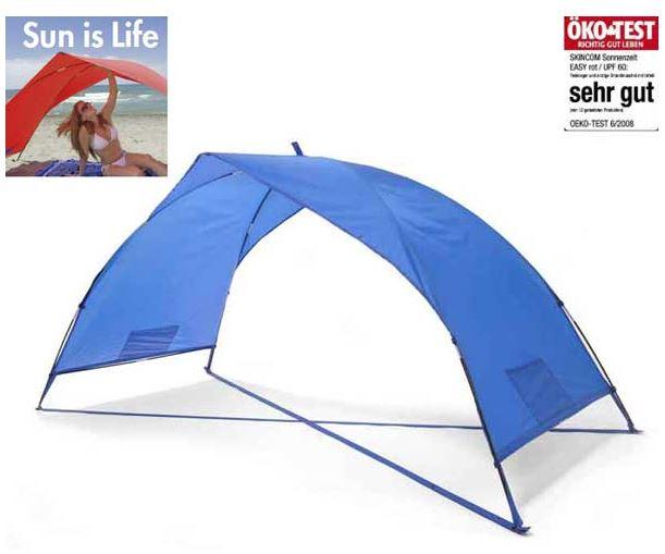Sonnenschutzzelt portabel 230x100x105 cm blau