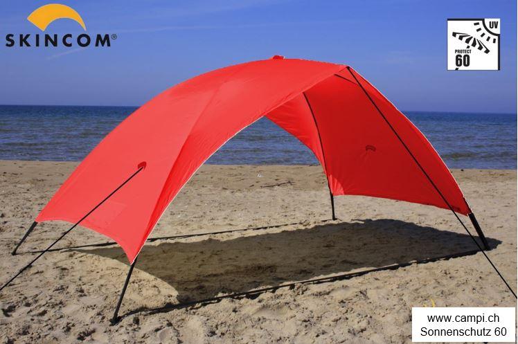 Sonnenschutzzelt portabel 230x100x105 cm rot