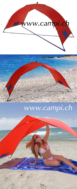 Sonnenschutzzelt portabel 230x100x105 cm rot #2