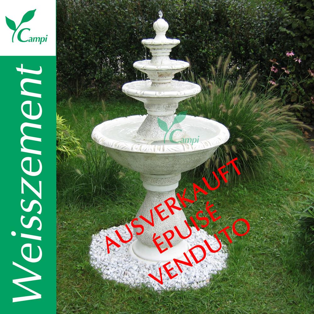 Weisszement Gartenbrunnen Rhodos D 80 x 140 cm #1