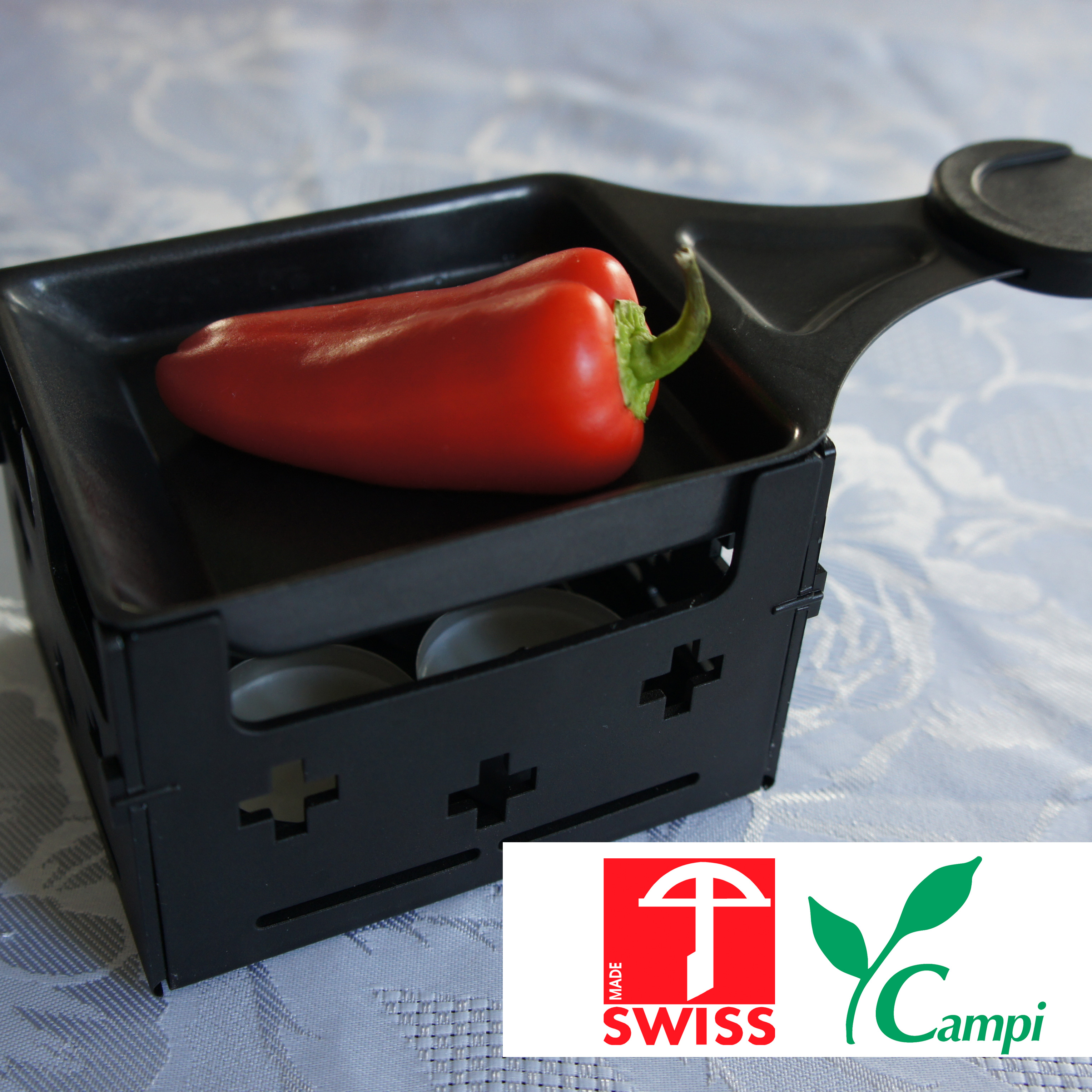 Swiss Raclette-Grill schwarz portabel #1