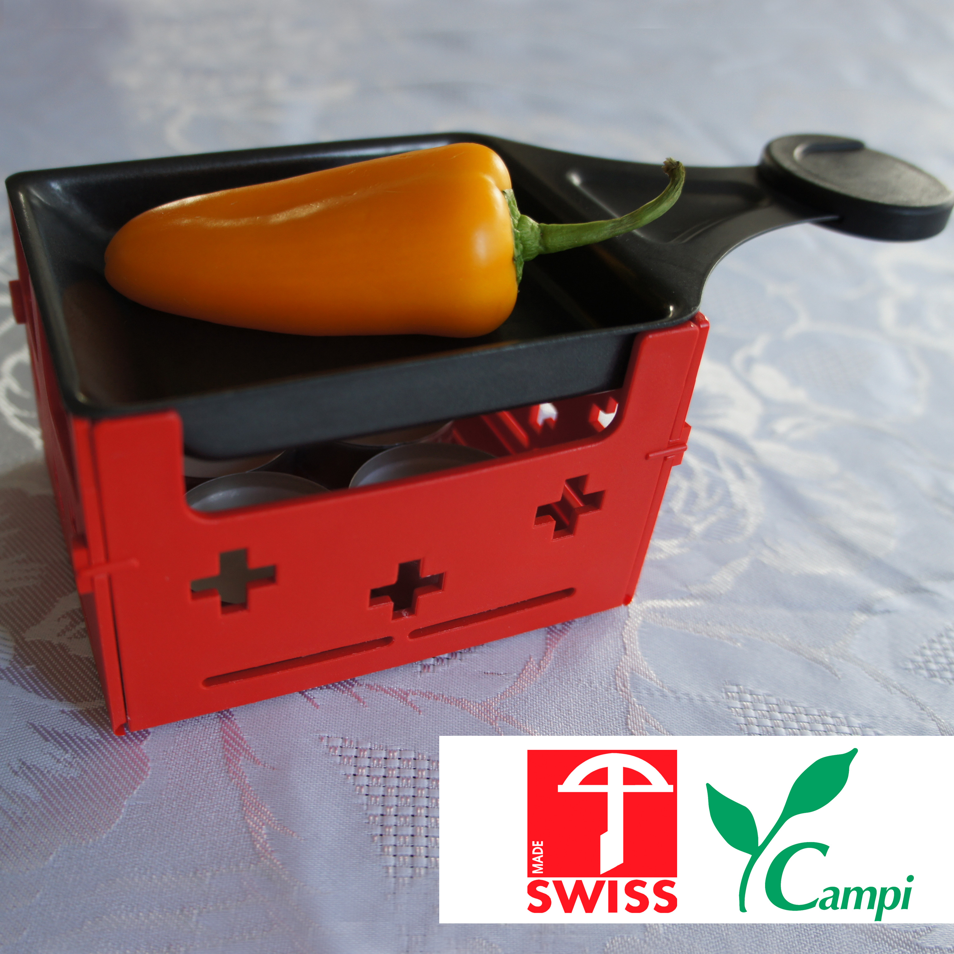 Swiss Raclette-Grill rot portabel #1