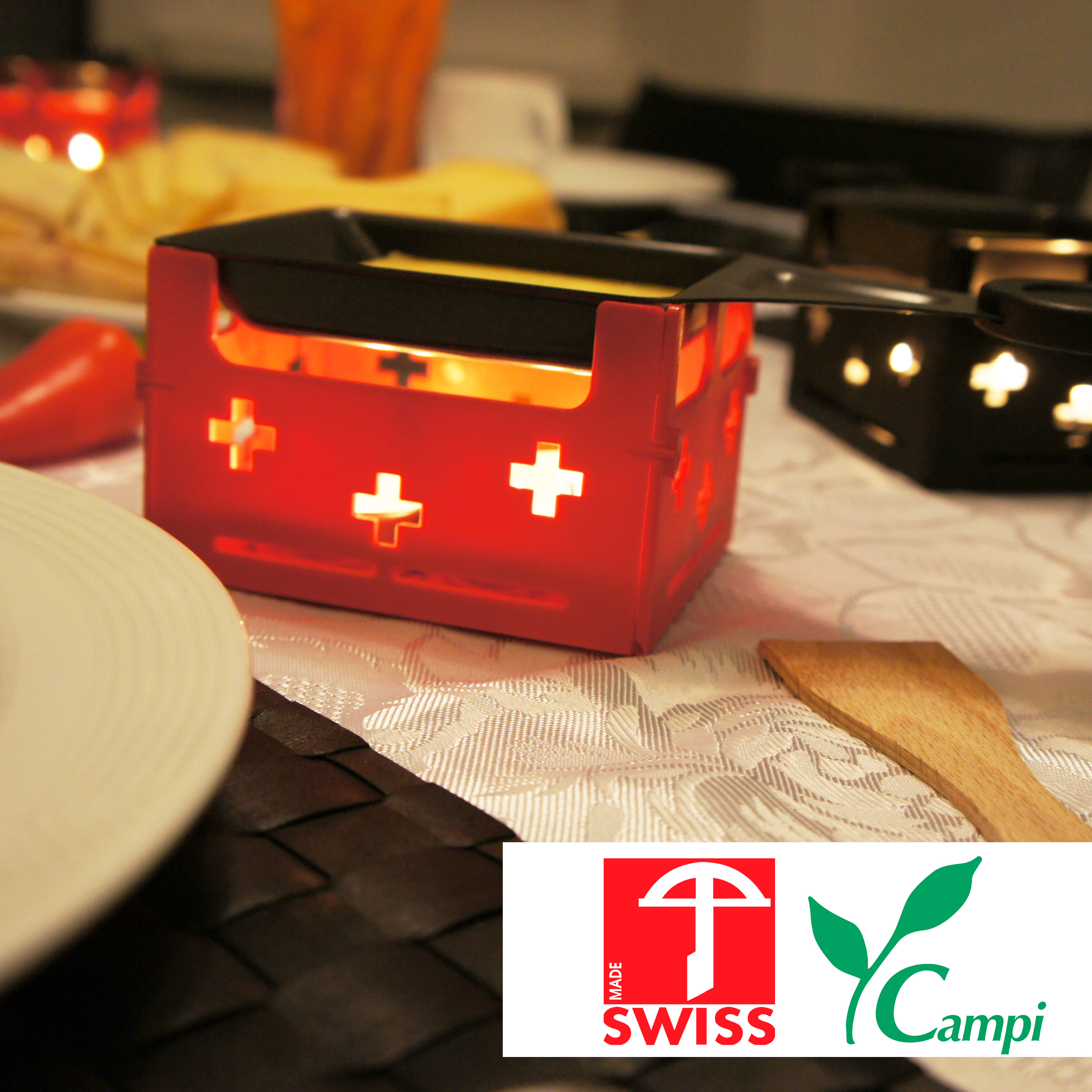 Swiss Raclette-Grill rot portabel #2