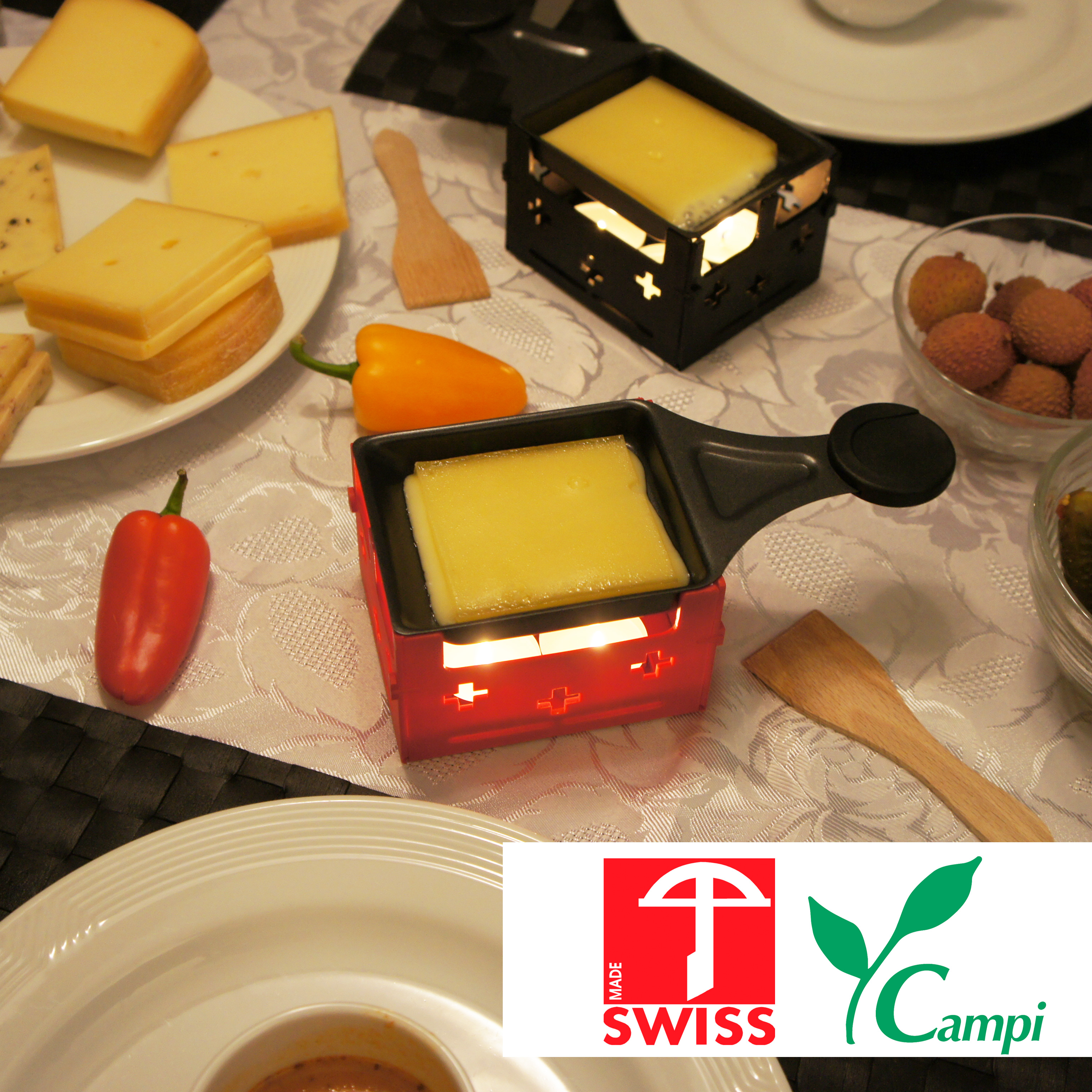 Swiss Raclette-Grill rot portabel #4