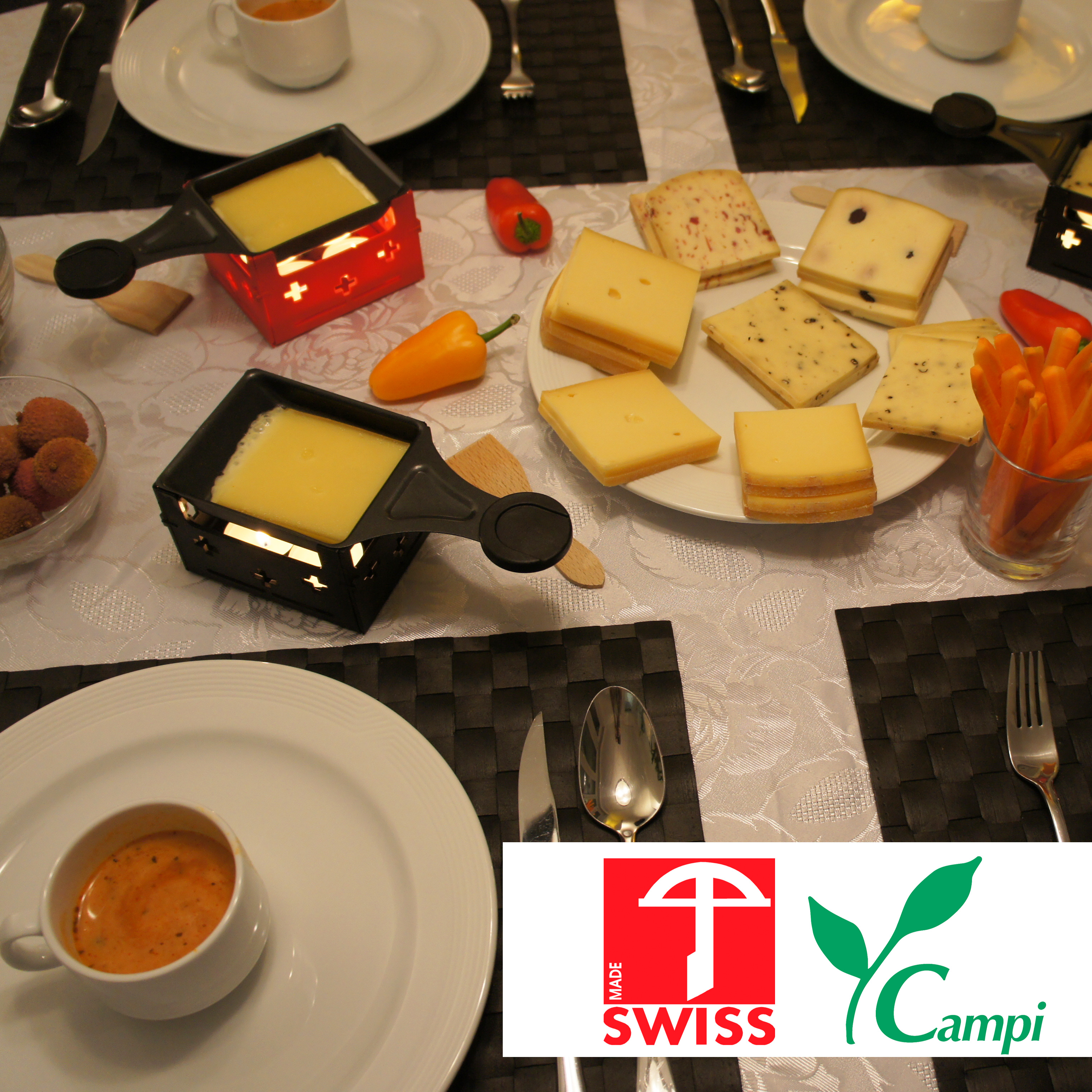 Swiss Raclette-Grill rot portabel #5