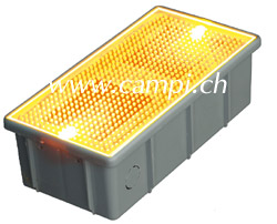 Solar Bodeneinbaulampe Pflasterstein gelb