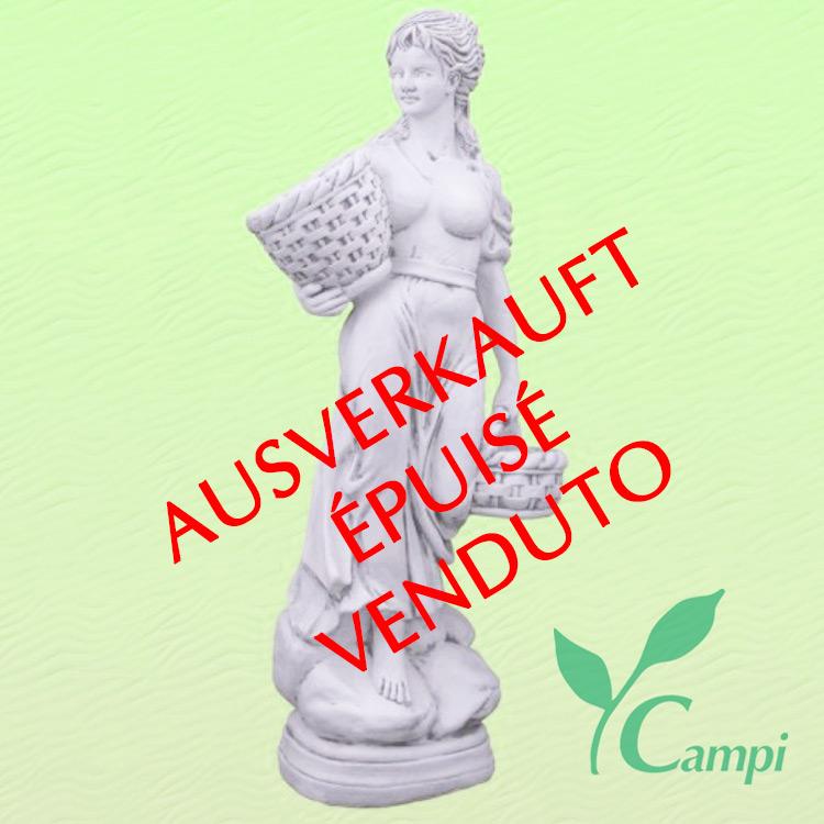 Gartenstatue Weisszement Franziska H 136 cm