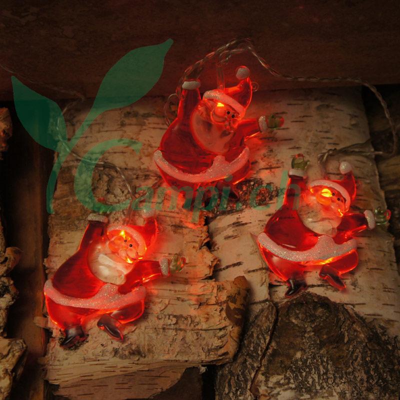 Weihnachtsmann Lichterkette LED mit 8 Figuren #3