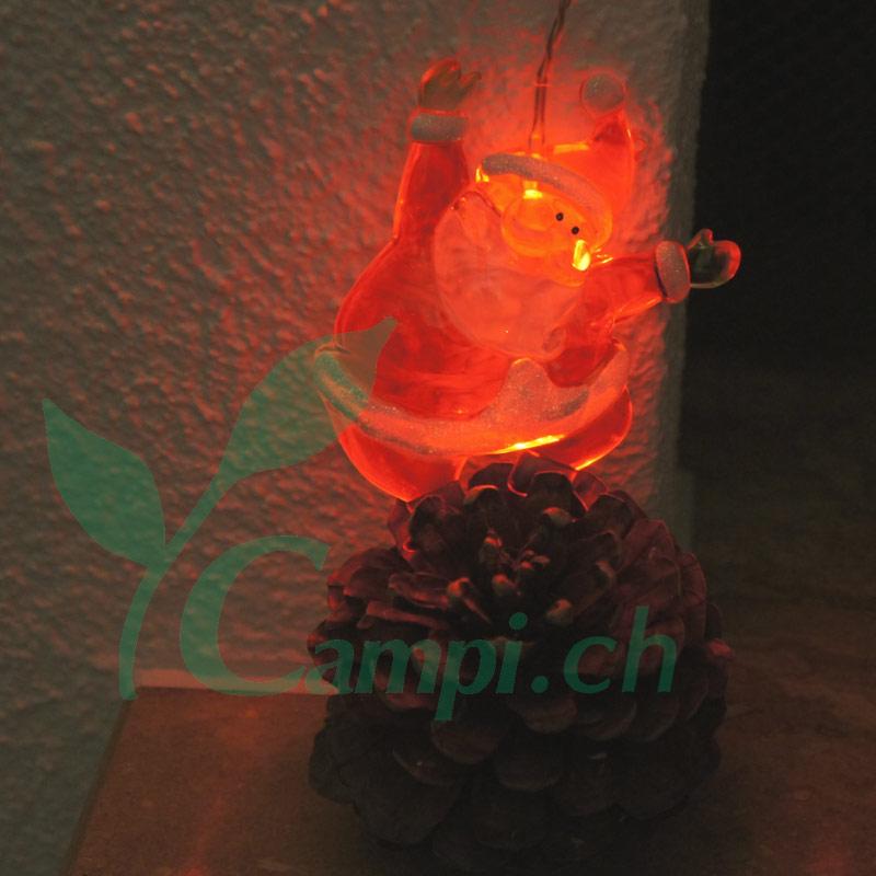 Weihnachtsmann Lichterkette LED mit 8 Figuren #4