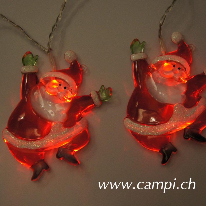 Weihnachtsmann Lichterkette LED mit 8 Figuren #5