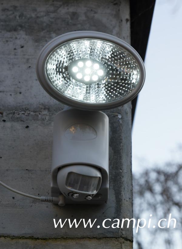 Solarstrahler mit 9 LED und Bewegungsmelder #1