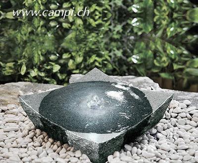 Gartenbrunnen Granitschale 35x35 H10 cm