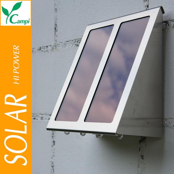 Solarwandlampe mit 4 Power-LED 18x11x20 cm
