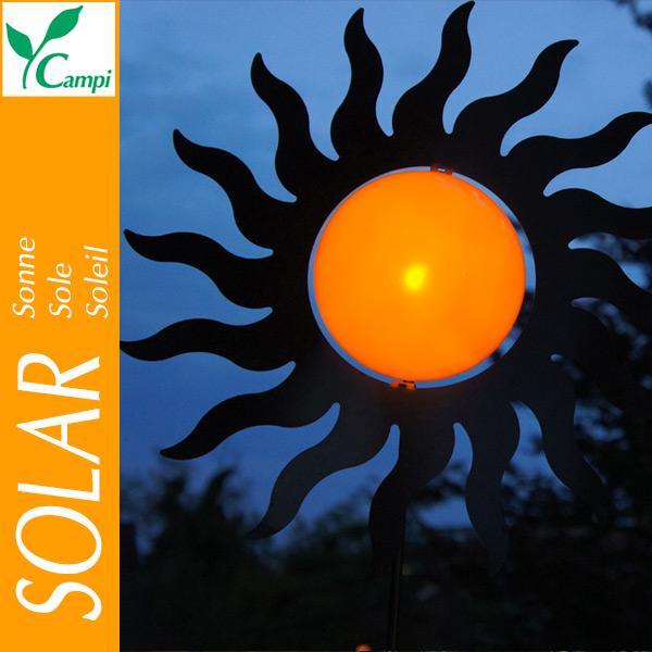 Solarsonne Edelstahl D=40cm amber LED #2