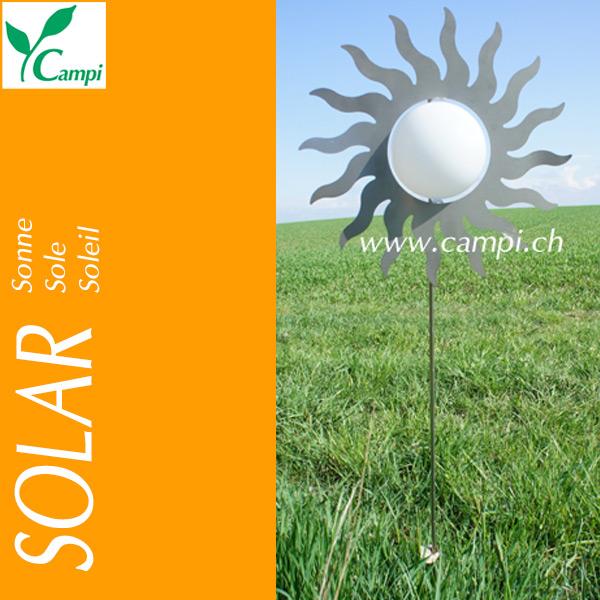 Solarsonne Edelstahl D=40cm amber LED #3
