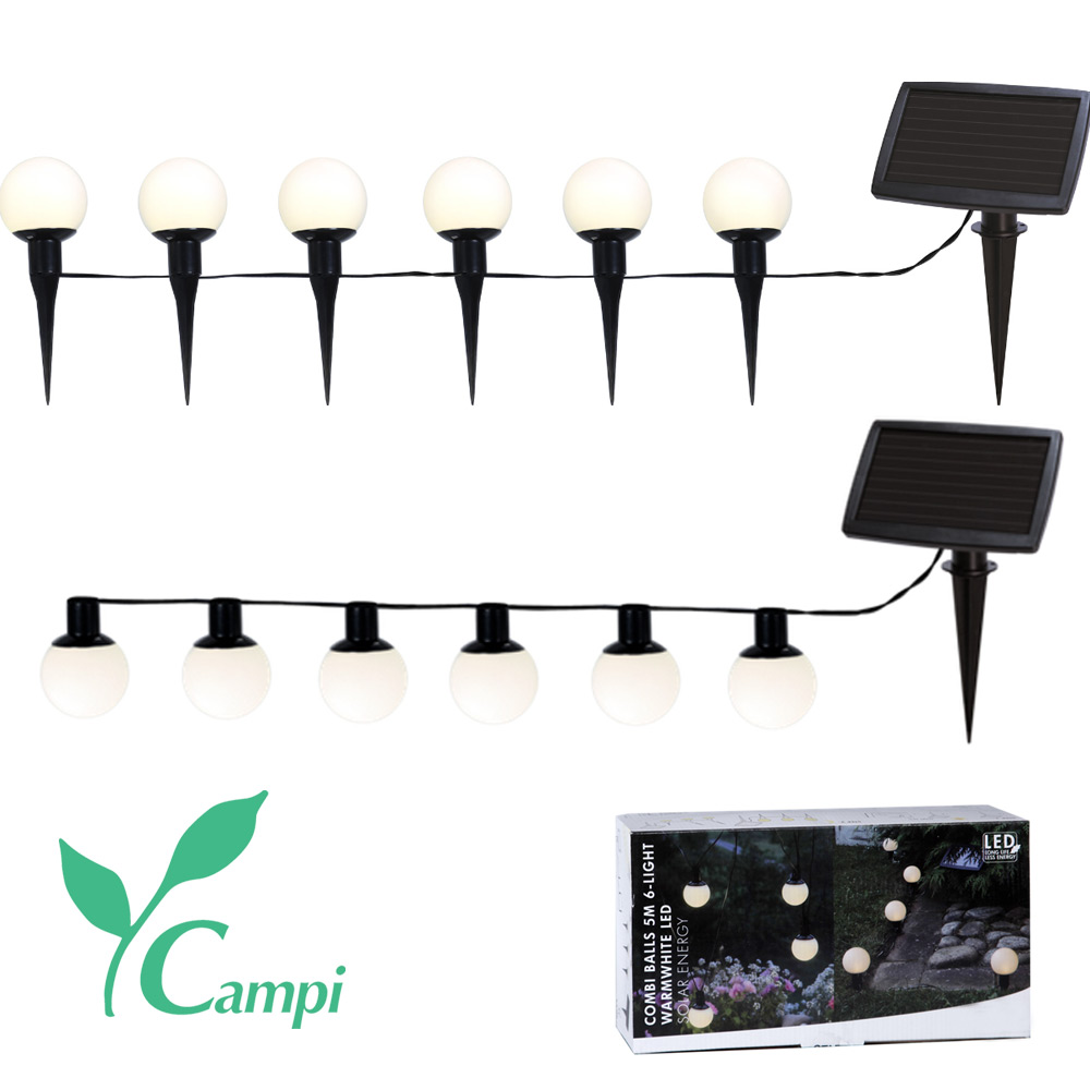 Solar-Leuchtkugel 6er Set