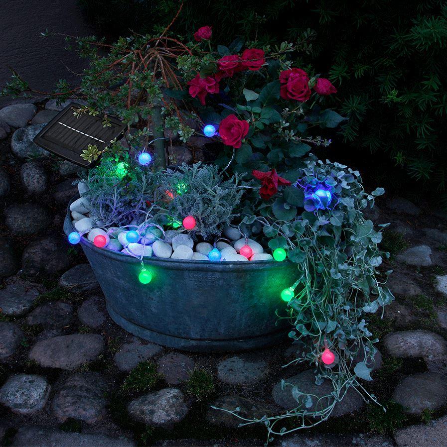 Solar-Lichterkette Color mit 20 Lichtkugeln #4