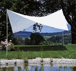Sonnensegel 400 cm quadratisch - weiss