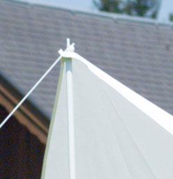 Sonnensegel 400 cm quadratisch - weiss #2