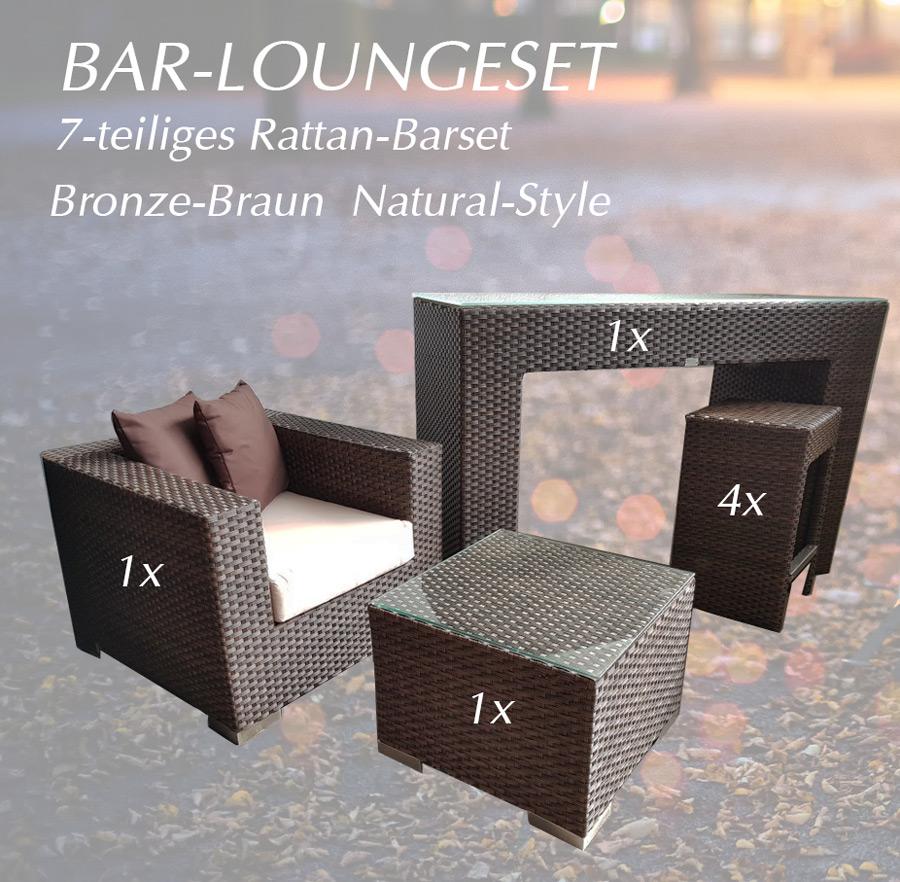 Lounge Bar Komplettsett Polyrattan