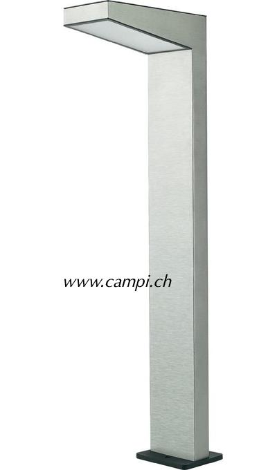 Solarstandlampe H=84 cm Edelstahl 100 Lumen warmweiss