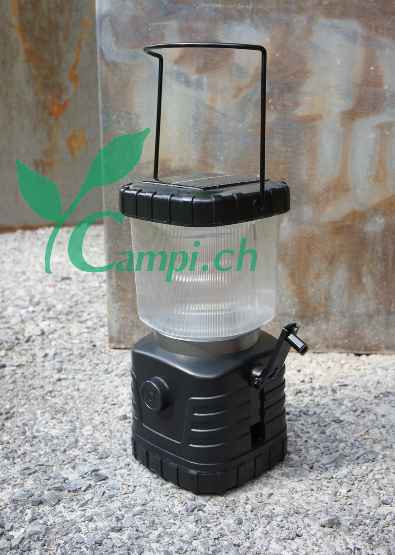 Solarlaterne Camping portabel mit Dimmer 11x23 cm