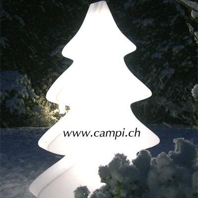Tannenbaum leuchtend weiss 115x75 cm outdoor