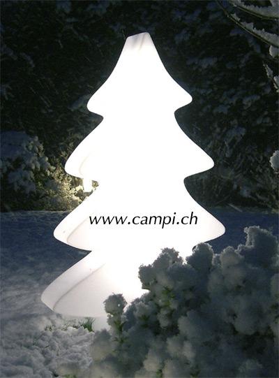 Tannenbaum leuchtend weiss 115x75 cm outdoor #2