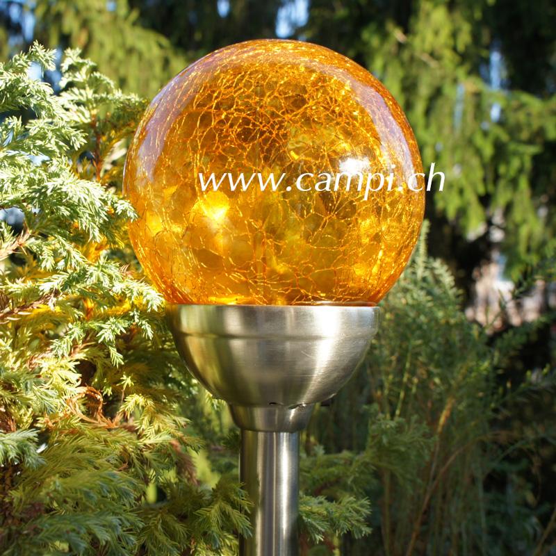 Solarlampe Crush amber D 12 x 45 cm